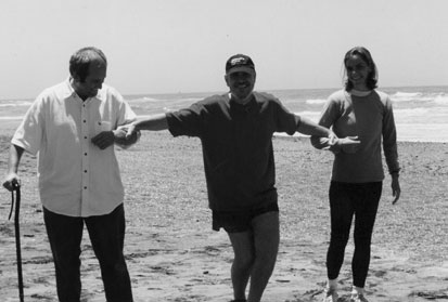 Walking on the beach during a Self-Healing session
